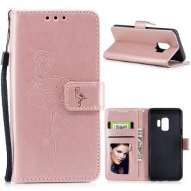 Samsung Galaxy S9 ruusukulta flamingo suojakotelo