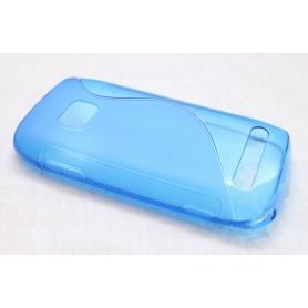 Lumia 710 sininen silikoni suojakuori.