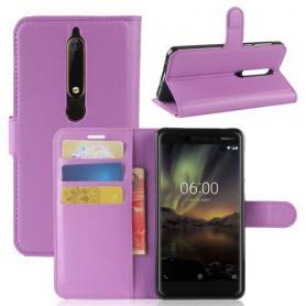 Nokia 6 2018 violetti suojakotelo