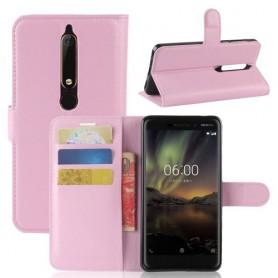 Nokia 6 2018 vaaleanpunainen suojakotelo