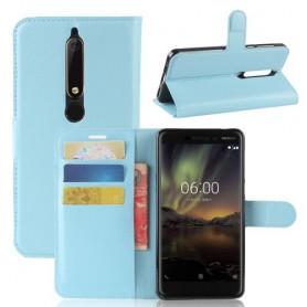 Nokia 6 2018 vaaleansininen suojakotelo