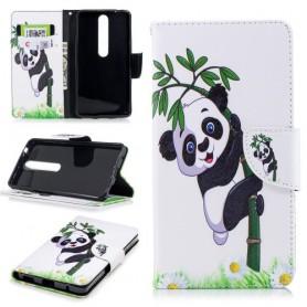 Nokia 6 2018 kiipeävä panda suojakotelo