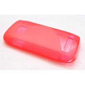Lumia 710 punainen silikoni suojakuori.