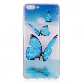 Huawei P Smart siniset perhoset suojakuori.