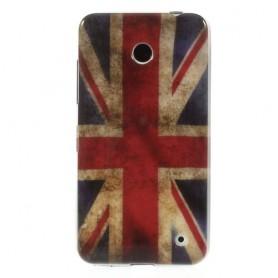 Lumia 630 Iso-Britannian lippu silikonisuojus.