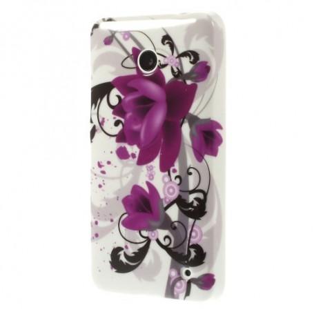 Lumia 630 violetit kukat silikonisuojus.