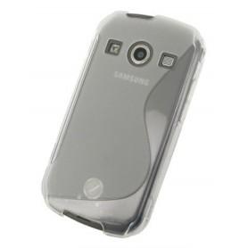 Galaxy Xcover 2 harmaa silikoni suojakuori.
