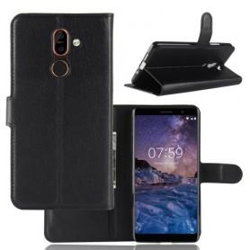 Nokia 7 plus musta suojakotelo