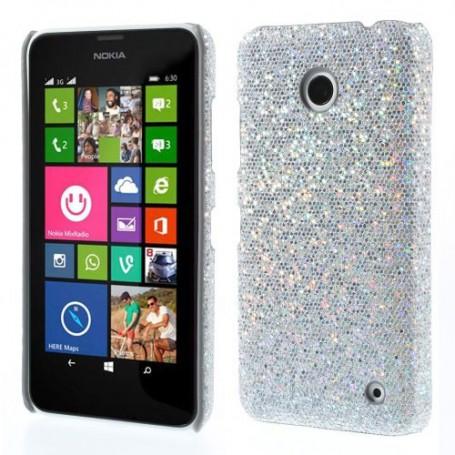 Nokia Lumia 630 hopean väriset glitter kuoret.
