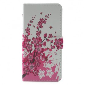 Huawei Mate 10 Lite vaaleanpunaiset kukat suojakotelo