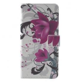 Huawei Mate 10 Lite violetit kukat suojakotelo