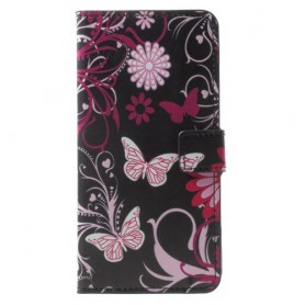 Huawei Mate 10 Lite kukkia ja perhosia suojakotelo