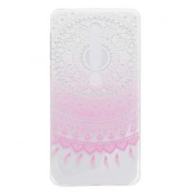 Nokia 6 2018 vaaleanpunainen kukka suojakuori.