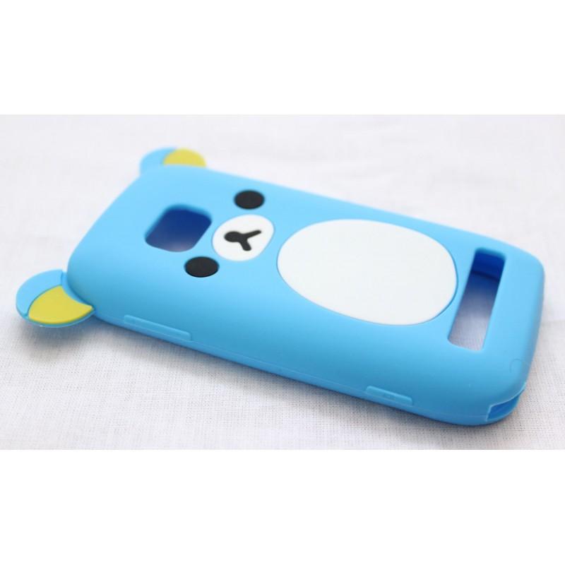 Lumia 710 sininen nalle silikoni suojakuori.