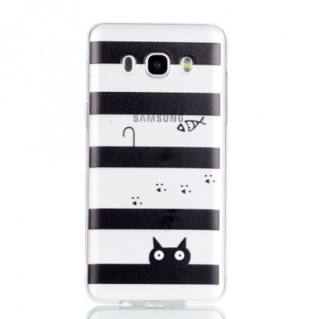 Samsung Galaxy J5 2016 raidat ja kissa suojakuori.