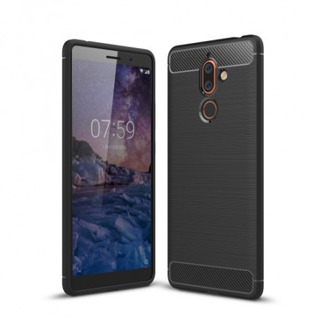 Nokia 7 plus musta suojakuori