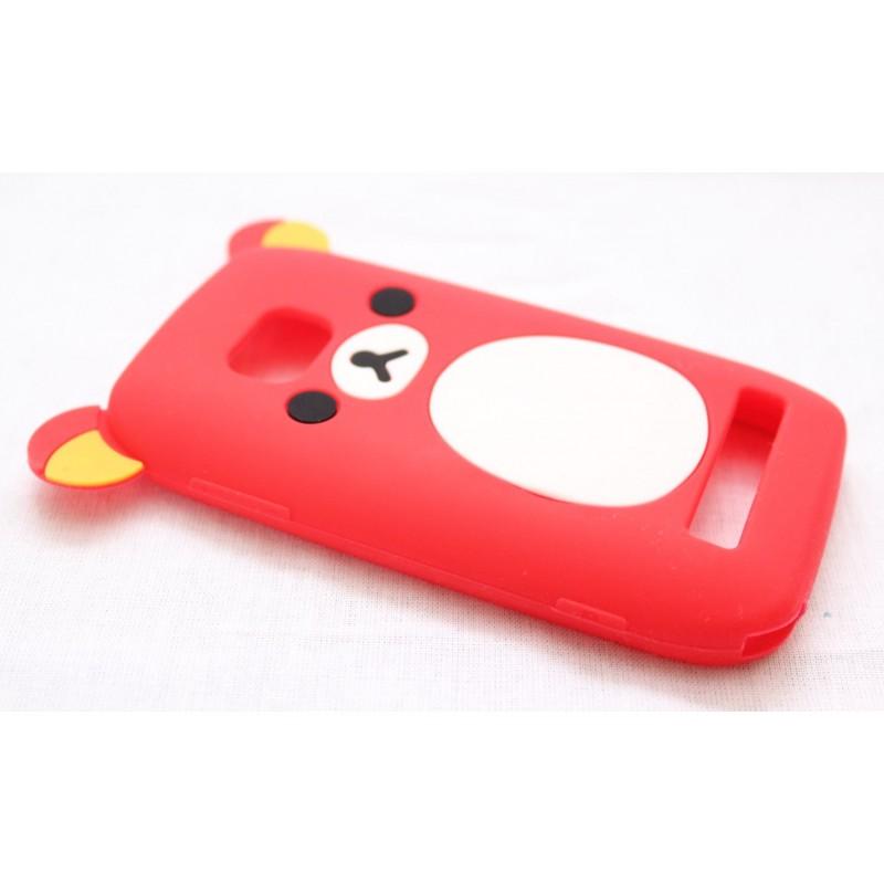 Lumia 710 punainen nalle silikoni suojakuori.