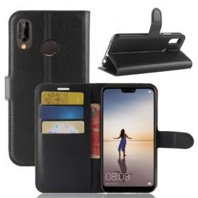 Huawei P20 Lite musta suojakotelo