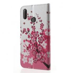 Huawei P20 Lite vaaleanpunaiset kukat suojakotelo