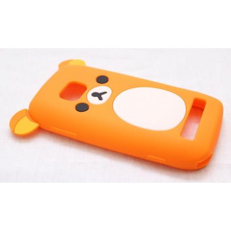 Lumia 710 oranssi nalle silikoni suojakuori.