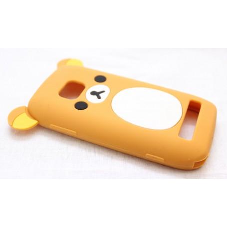 Lumia 710 vaalean ruskea nalle silikoni suojakuori.