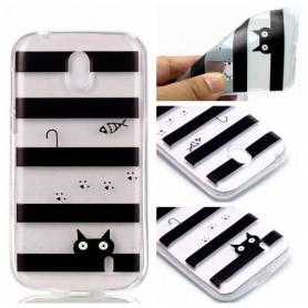 Nokia 1 raidat ja kissa suojakuori.
