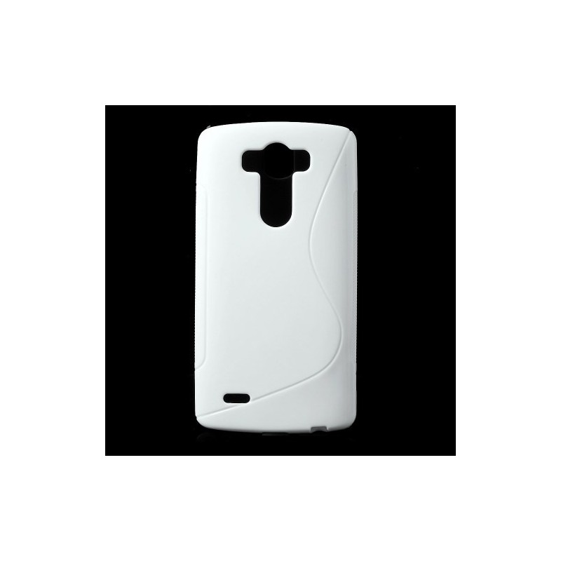 LG G3 valkoinen silikonisuojus.
