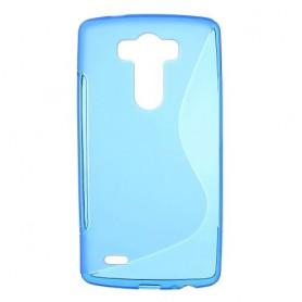 LG G3 sininen silikonisuojus.