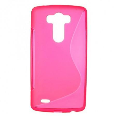 LG G3 roosan punainen silikonisuojus.