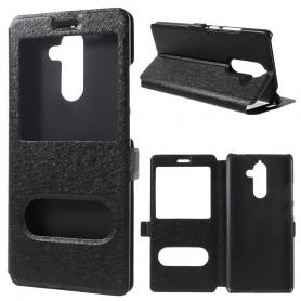 Nokia 7 plus musta ikkunakotelo