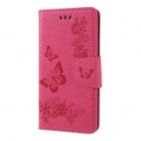 Samsung Galaxy A6 2018 pinkki perhoset suojakotelo