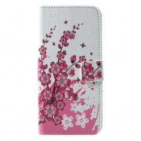 Huawei Honor 10 vaaleanpunaiset kukat suojakotelo