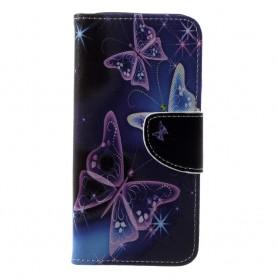 Samsung Galaxy A6 2018 violetit perhoset suojakotelo