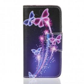 Galaxy Xcover 3 perhoset puhelinlompakko