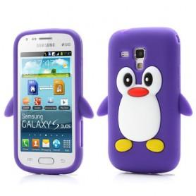 Galaxy Trend violetti pingviini silikonisuojus.