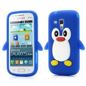 Galaxy Trend sininen pingviini silikonisuojus.