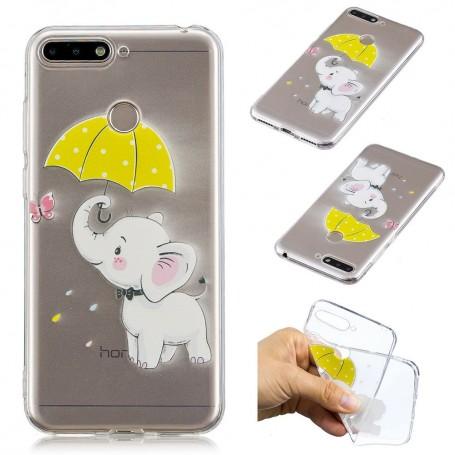 Huawei Y6 2018 / Honor 7A läpinäkyvä norsu suojakuori.