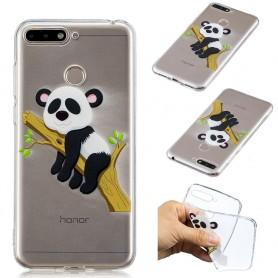 Huawei Y6 2018 / Honor 7A läpinäkyvä kiipeävä panda suojakuori.