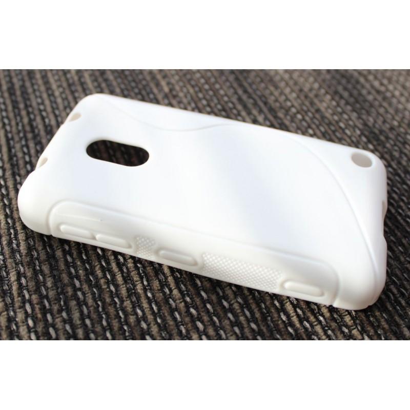 Lumia 620 valkoinen silikoni suojakuori.