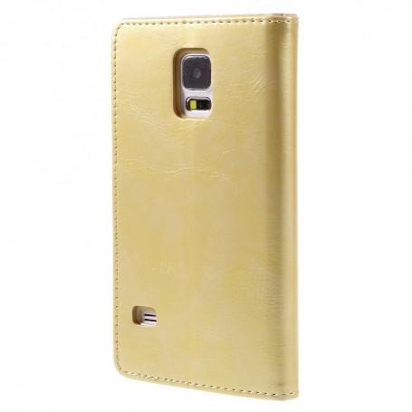 Samsung Galaxy S5 samppanjan kultainen puhelinlompakko