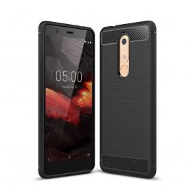 Nokia 5.1 (2018) musta suojakuori