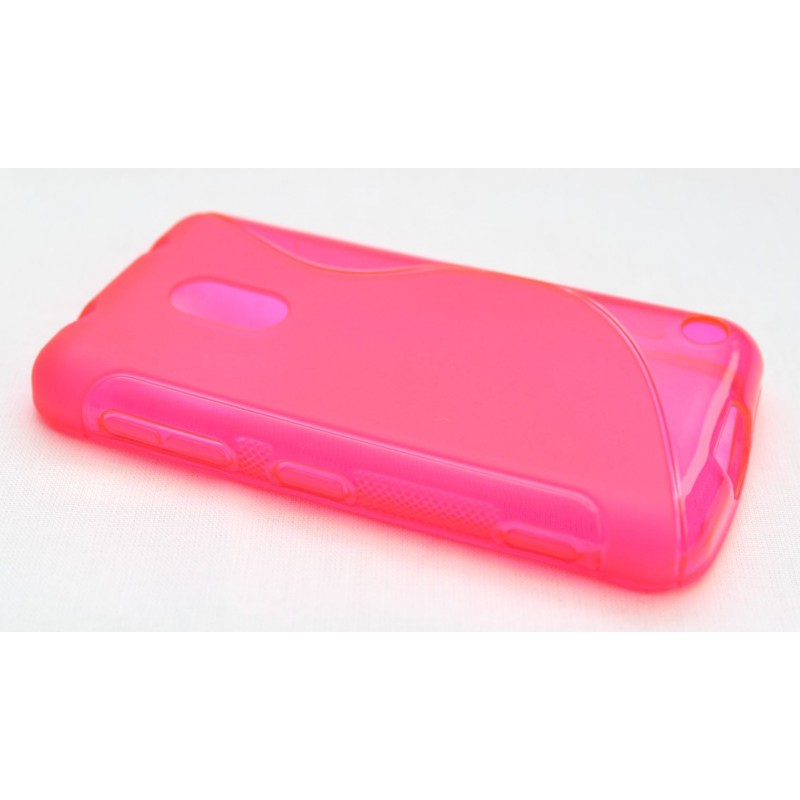 Lumia 620 hot pink silikoni suojakuori.