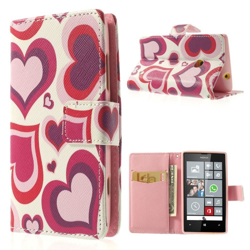 Lumia 520 sydämet lompakkokotelo.