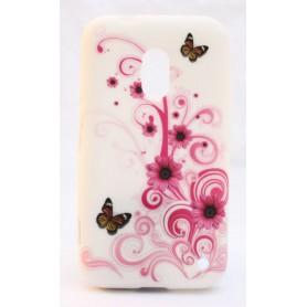 Lumia 620 kukkia ja perhosia silikoni suojakuori.