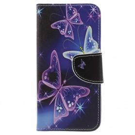 Samsung Galaxy J6 2018 violetit perhoset suojakotelo