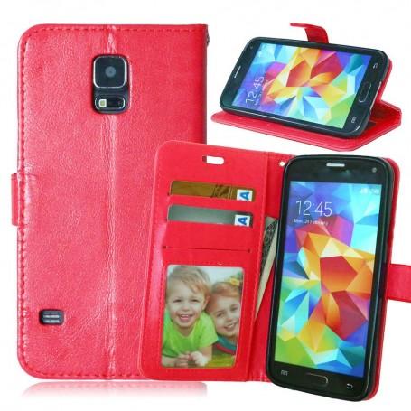 Galaxy S5 punainen puhelinlompakko