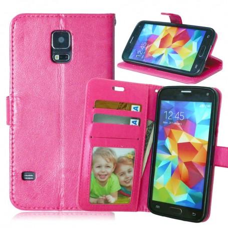 Galaxy S5 hot pink puhelinlompakko