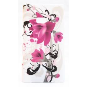 Lumia 900 suojakuori violetit kukat.