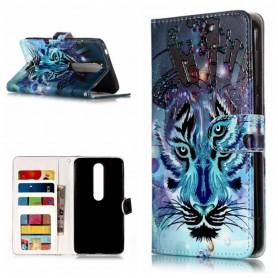 Nokia 6.1 sininen tiikeri suojakotelo