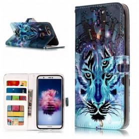 Huawei P Smart sininen tiikeri suojakotelo